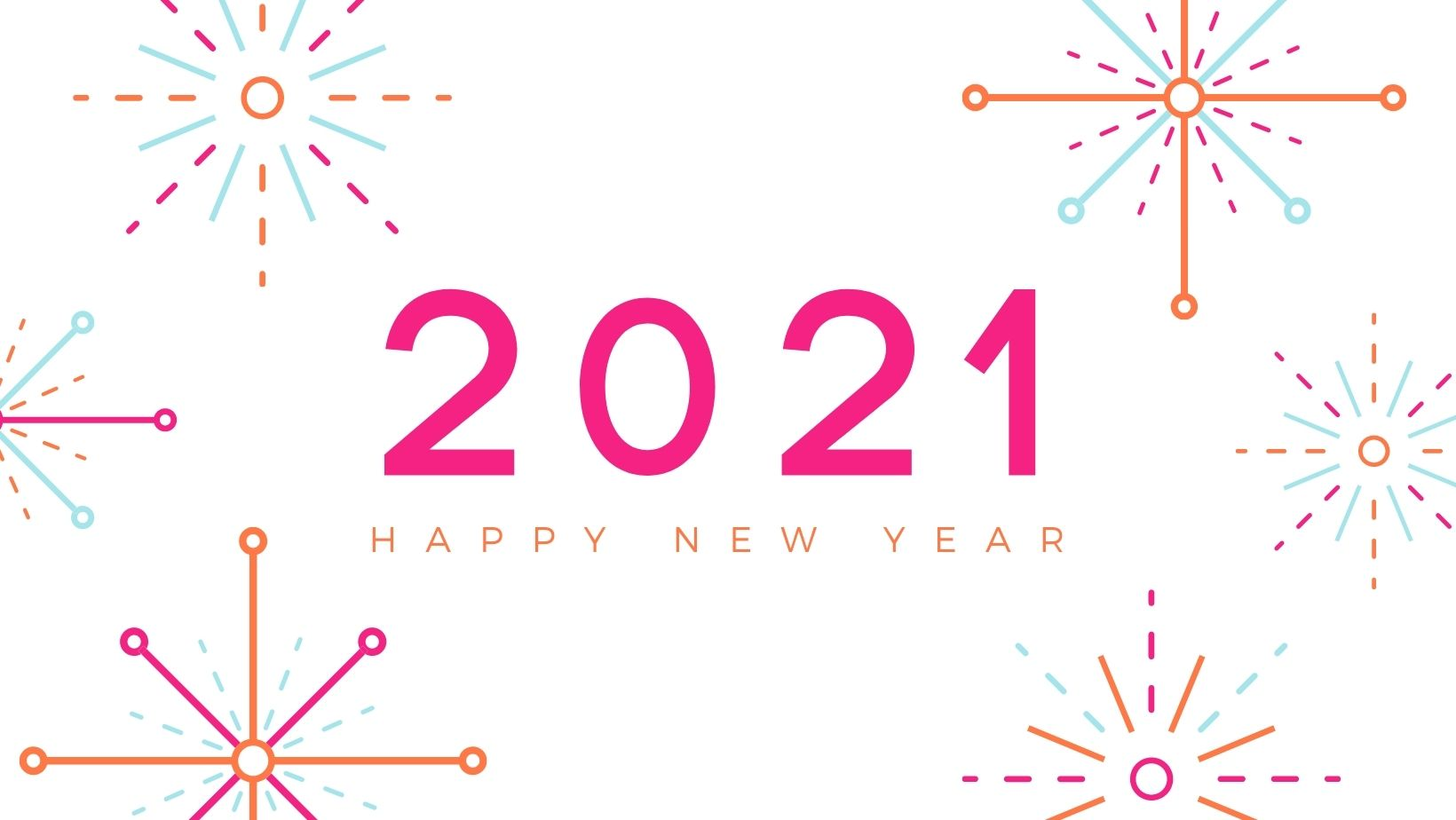 Graphic displaying 2021 - Happy New Year