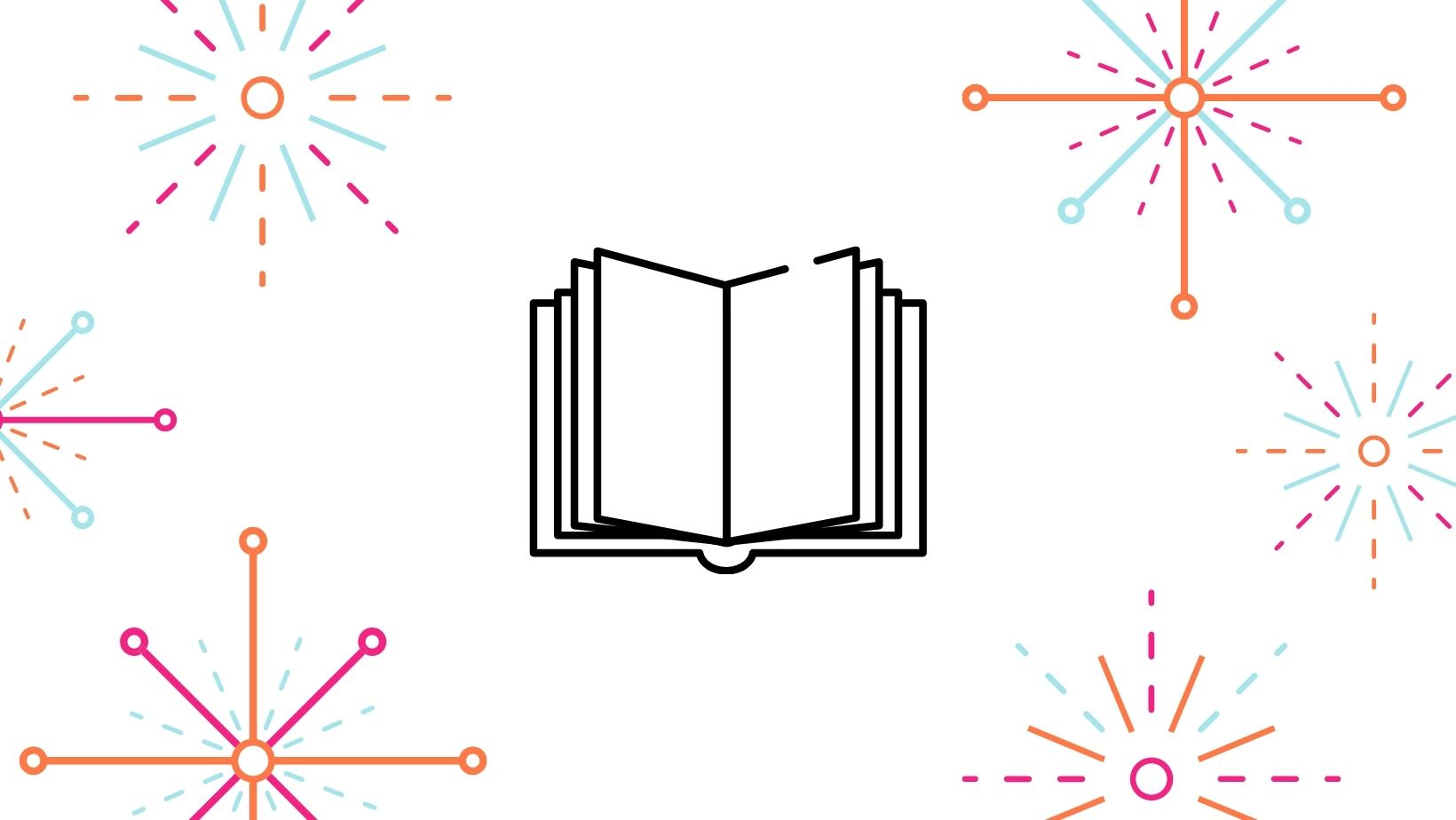 Graphic displaying a Book Icon