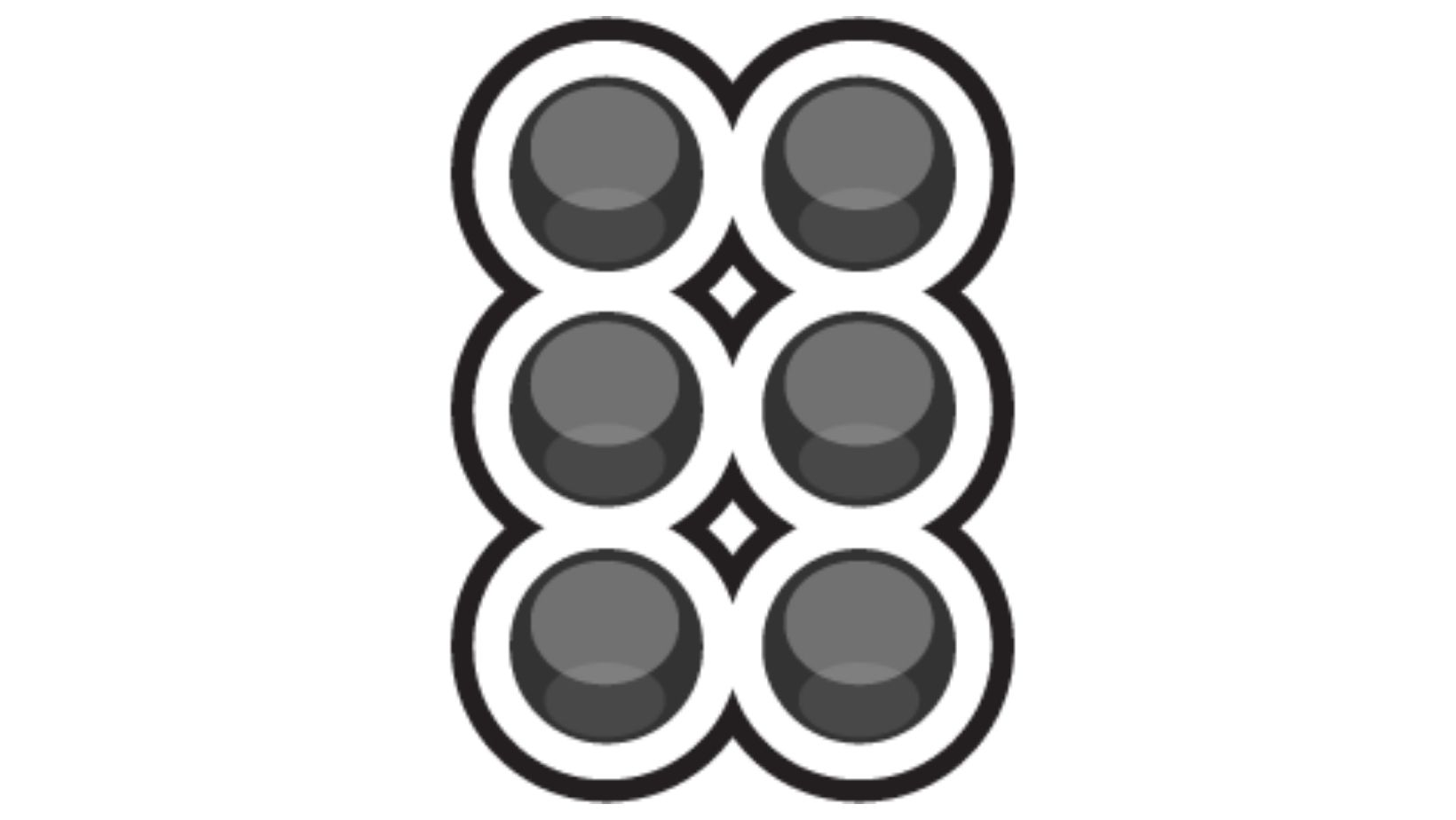 Braille Icon:  Graphic of six dots