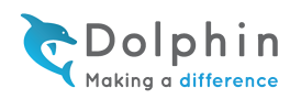Dolphin logo with tagline: making a difference
