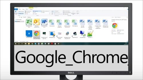 Image shows SuperNova displaying large MS icons and Google Chrome