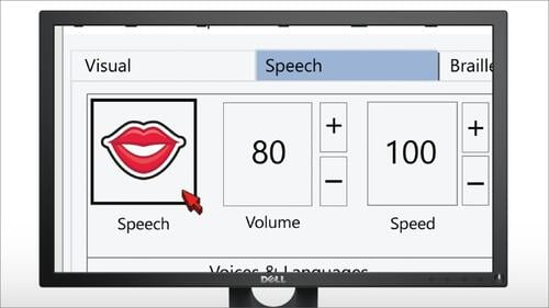 Image shows SuperNova interface with Speech selected