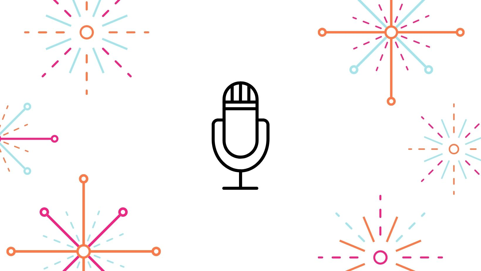 Graphic displaying a Podcast Icon