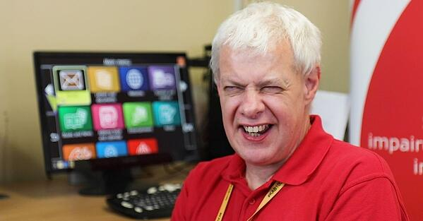 Steve from the Kent Association for the Blind. A UK Sight Loss Centre