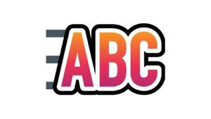 Line View Logo: A graphic of the letters ABC with three lines behind it