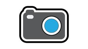 Connect and View Logo: Graphic of a camera with a blue lens