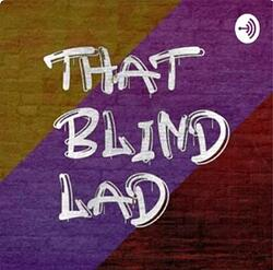 That Blind Lad Logo -The Words 'That Blind Lad' grafitti'ed onto a colourful, striped wall