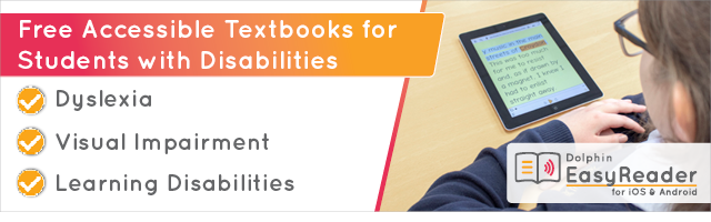 Free Accessible Textbooks for Students with Disabilities